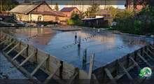 Изображение строительства фундамента с подвалом из фбс