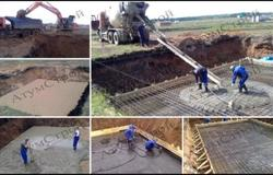 Изображение заливки фундамента под ключ дома размером 20х19 в Карпово