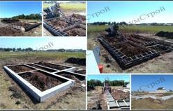 Фото строительства фундамента дома под ключ размером 12х14 в Уфе